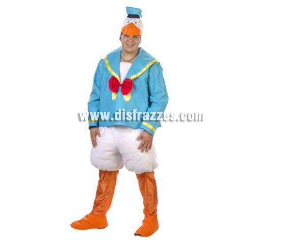 Disfraz de Pato adulto. Alta calidad. Hecho en España. Talla única de hombre = 50. Incluye gorro, camisa, pantalón, piernas y cubrepies. Para ir igual que el Pato Donald.