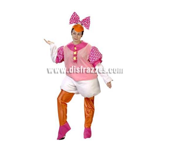 Disfraz de Patita Desi adulta. Alta calidad. Hecho en España. Talla única de mujer = 44. Incluye gorro, camisa, mangas, pantalón, piernas y cubrepies.