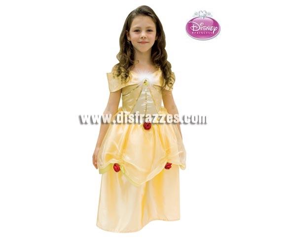 Disfraz de La Bella para niña. Talla de 7 a 8 años. Incluye vestido. Disfraz con licencia Disney ideal para regalar.