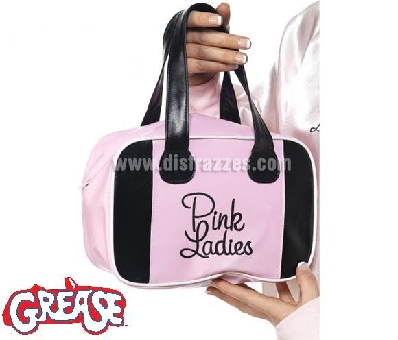 Bolso Pink Lady de Grease rosa con logo. Perfecto como Complemento para disfrazarte de la auténtica Sandy Olson (Olivia Newton-John) en la mitica película GREASE