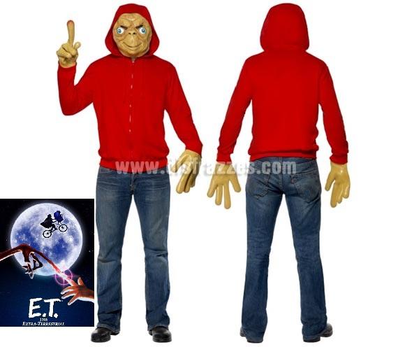 Disfraz de ET el Extraterrestre para hombres. Incluye chaqueta, máscara y guantes. Pantalón NO incluido. Con el éste disfraz podrás decir la frase: ET mi casa, teléfono!!!!!!