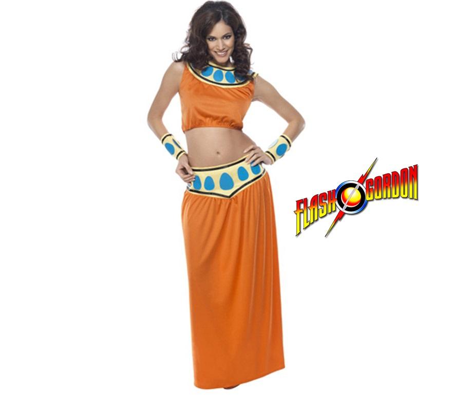Disfraz de Bailarina Árabe para mujer talla M. Incluye top, falda y muñequeras. Disfraz de Aura de Flash Gordon para chicas.