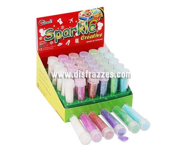 Tubo escarcha de colores variados. Precio por tubo o unidad, se venden por separado.