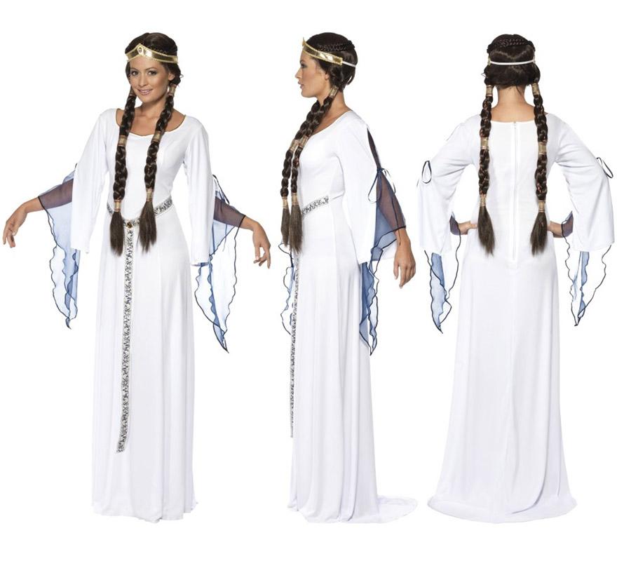 Disfraz de Esclava Mucama Medieval para mujer talla M. Incluye vestido, cinturón y cinta de la cabeza.