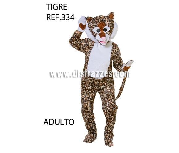 Disfraz de Leopardo o Tigre adulto. Talla Universal para adultos. Incluye disfraz completo y cabeza. Disfraz para Grupo, Peña o Comparsa diferente y original. ATENCIÓN para grupos: consultar posibilidad de hacer en tallas de niños y precio dependiendo de la cantidad de disfraces solicitada.