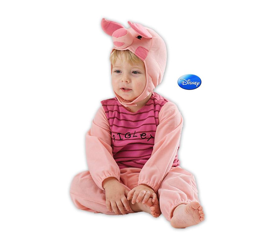 Disfraz de Piglet para bebé. Talla de 12 a 18 meses. Incluye capucha y mono. El amigo de Winnie the Pooh. Disfraz con licencia Disney ideal para regalar. Éste disfraz es ideal para Carnaval y para regalar en Navidad, en Reyes Magos, para un Cumpleaños o en cualquier ocasión del año. Con éste disfraz harás un regalo diferente y que seguro que a los peques les encantará y hará que desarrollen su imaginación y que jueguen haciendo valer su fantasía.  ¡¡Compra tu disfraz para Carnaval o para regalar en Navidad o en Reyes Magos en nuestra tienda de disfraces, será divertido!!