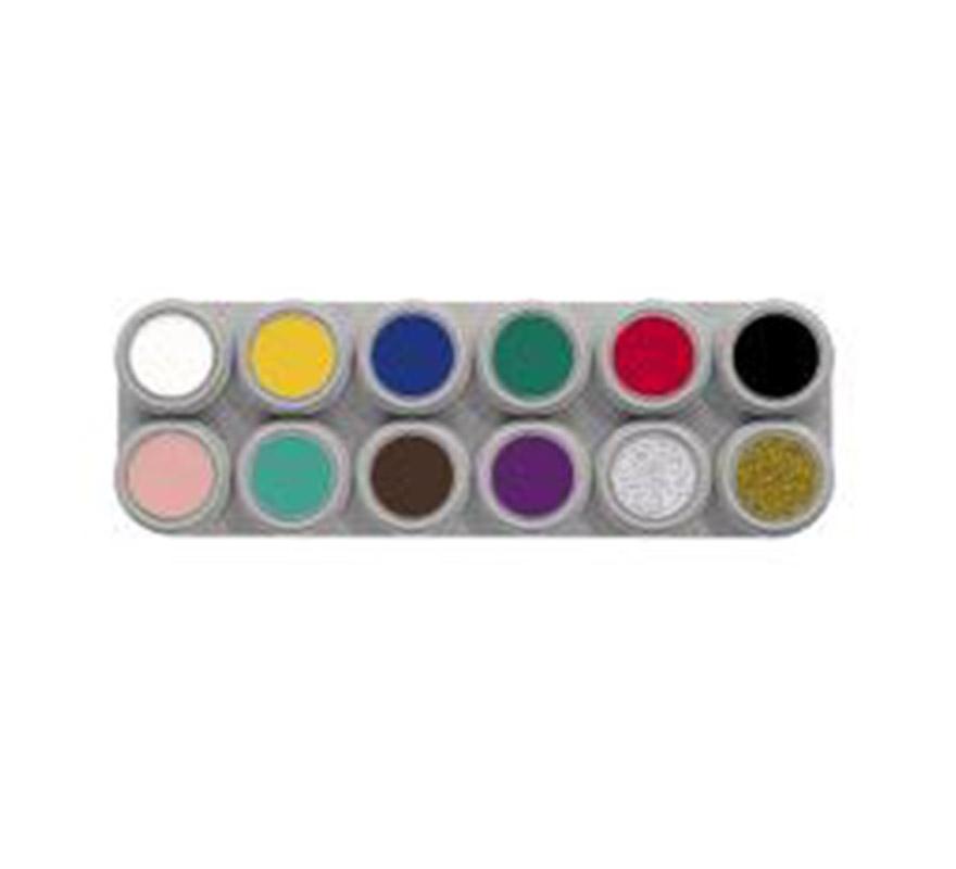Maquillaje Al Agua Paleta 12 Colores De 2 5 Ml Por Sólo 28 95 Disfraces Baratos Originales Y Exclusivos Tienda Online De Disfraces Baratos