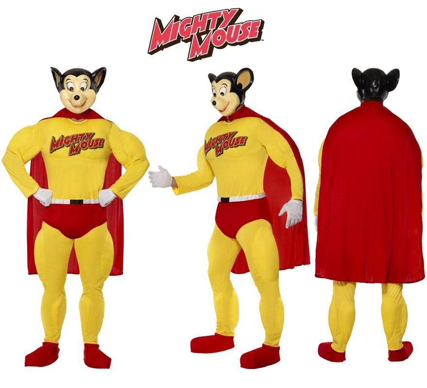 Disfraz de SuperRatón para hombre talla M. Incluye disfraz completo.