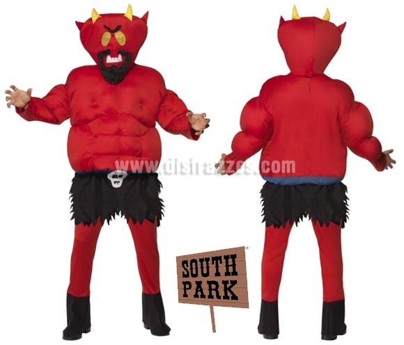 Disfraz de Diablo o Demonio de South Park acolchado para hombre talla M. Incluye disfraz completo.