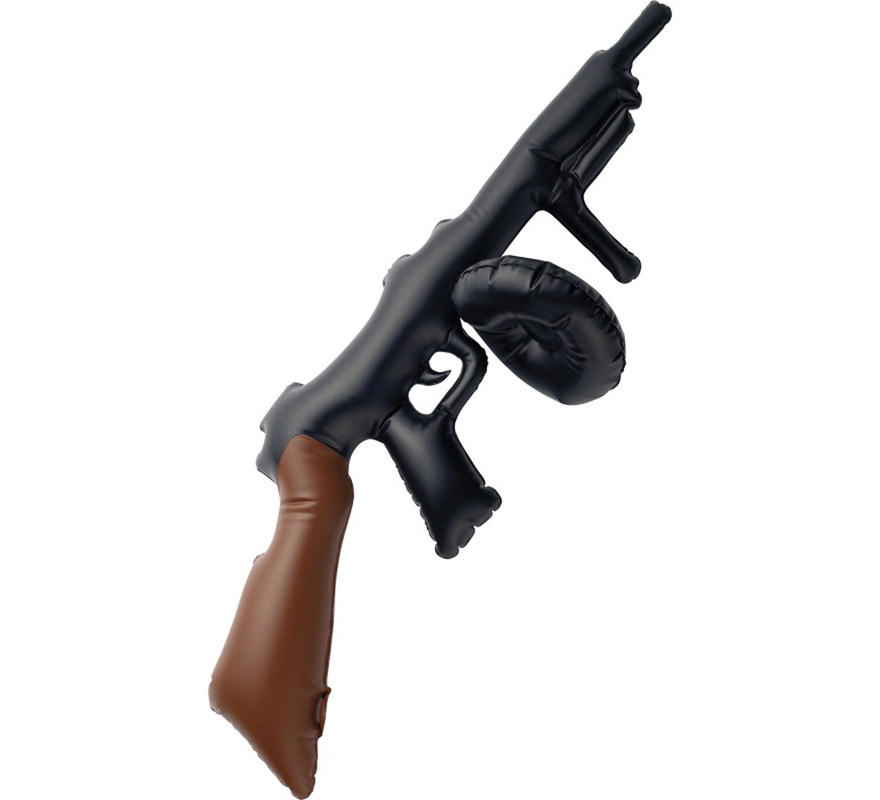 Metralleta o Pistola de Ganster hinchable de 75 cm.