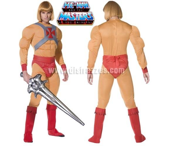 Disfraz de Príncipe He-Man para hombre talla M. Incluye disfraz completo con espada y SIN peluca.