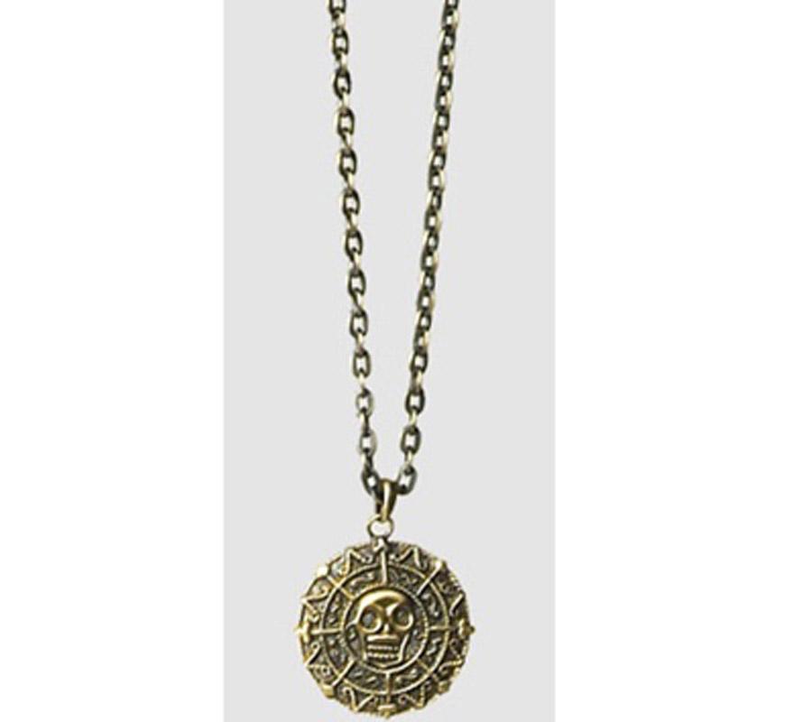 Medallón Calavera LUXE. Perfecto como Complemento de los disfraces de Pirata y los disfraces de Halloween.