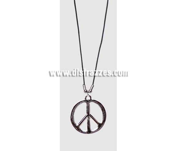 Colgante signo o símbolo de la Paz. Perfecto para disfraces de Hippies.
