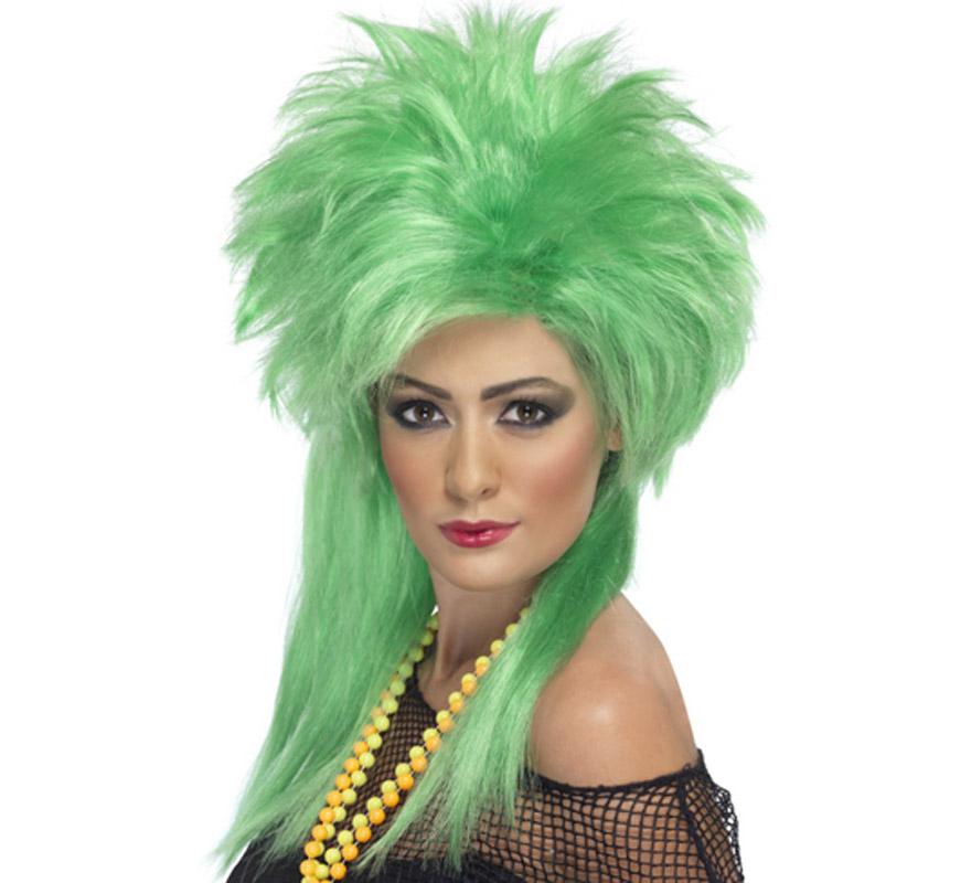 Peluca de Punky verde de los años 80