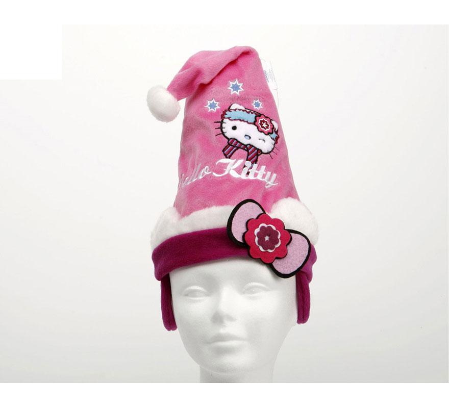 Gorro de Papa Noel Hello Kitty 27 cm. Infantil.