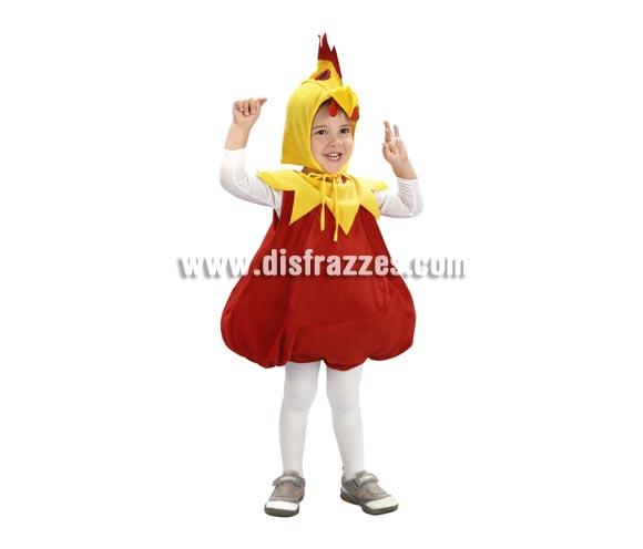 Disfraz de Pollito Infantil barato talla de 3 a 4 años. Incluye vestido y capucha.