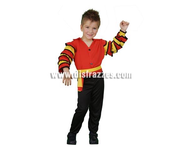 Disfraz de Bailarín de Rumba barato para Carnaval. Talla de 3 a 4 años. Incluye camisa, pantalón y cinturón. Disfraz de Caribeño para niño.