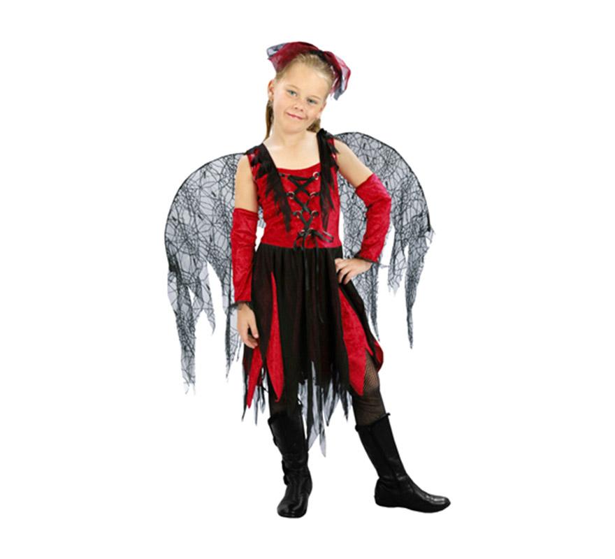 Disfraz de Hada Telarañas barato para Halloween. Talla de 10 a 12 años. Incluye tocado, vestido, manguitos y alas.