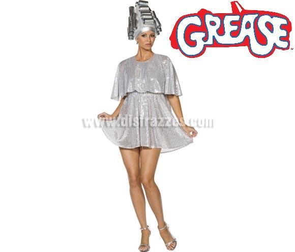 Disfraz de Sueño de un Ángel de Grease para mujer talla M. Incluye vestido y tocado. Con éste disfraz podrás cantar la canción: Beauty school drop out!