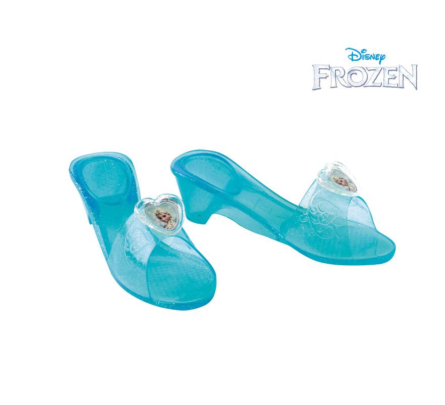 Zapatos de Elsa de Frozen: El reino de Hielo para Niña. Genuina y original peluca de Elsa, la Reina de las Nieves, de la nueva película de Disney Frozen: El Reino de Hielo  con licencia oficial. El regalo ideal para las niñas estas navidades.