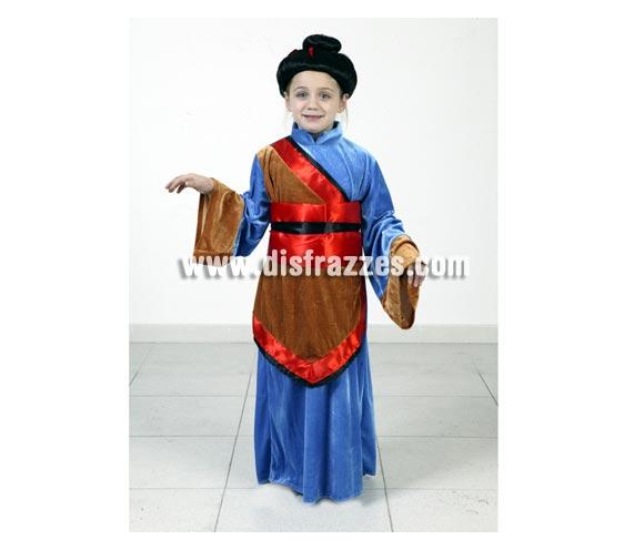 Disfraz de Japonesa niña talla de 10 a 12 años. Incluye vestido y cinturón. Peluca NO incluida, podrás verla en la sección Pelucas.
