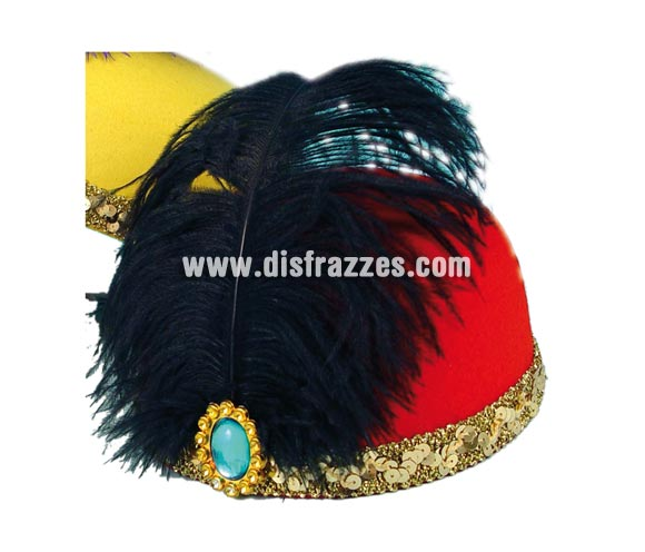 Sombrero Cabaret 17x18,5cm de color rojo para Carnaval. Talla universal de adultos. Ideal también como complemento de tu disfraz de Charlestón.