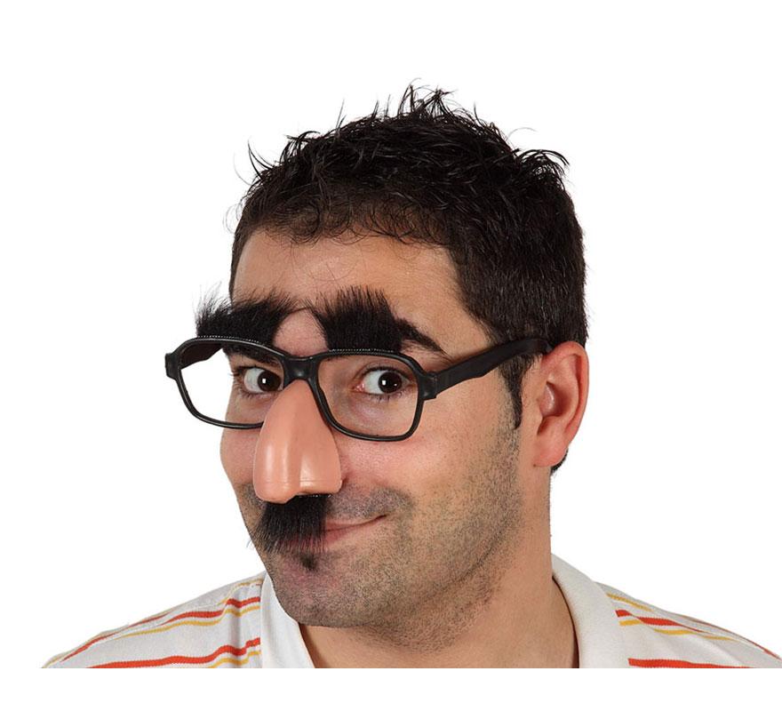 Gafas con nariz, bigote y cejas.