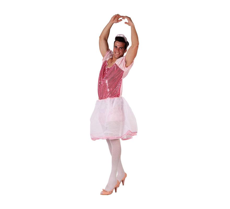 Disfraz de Bailarina rosa para hombre . Talla Standar M-L = 52/54. Incluye vestido. Diadema NO incluida. Perfecto para Despedidas de Soltero, para hacer pasar un buen rato al Novio y sobre todo a los amigos.