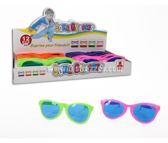 Gafas divertidas Gigantes de 26 cm. Hay 4 colores surtidos y muy llamativos.  Precio por unidad, se venden por separado.