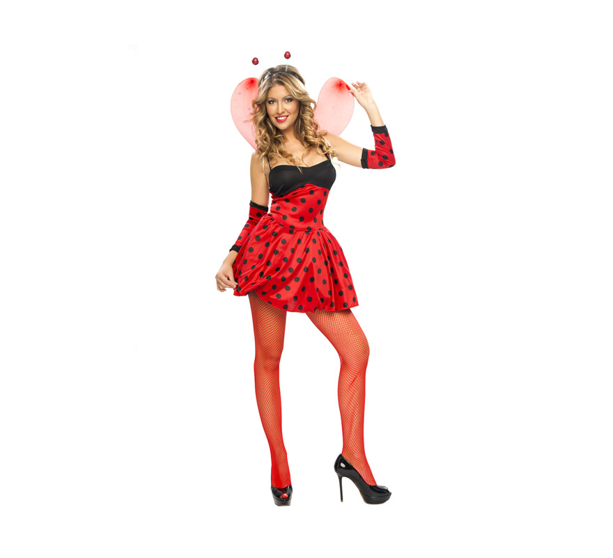 Disfraz barato de Lady Mariquita para mujer talla M-L