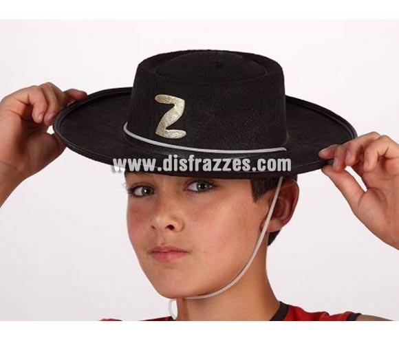 Sombrero de El Zorro para niños.