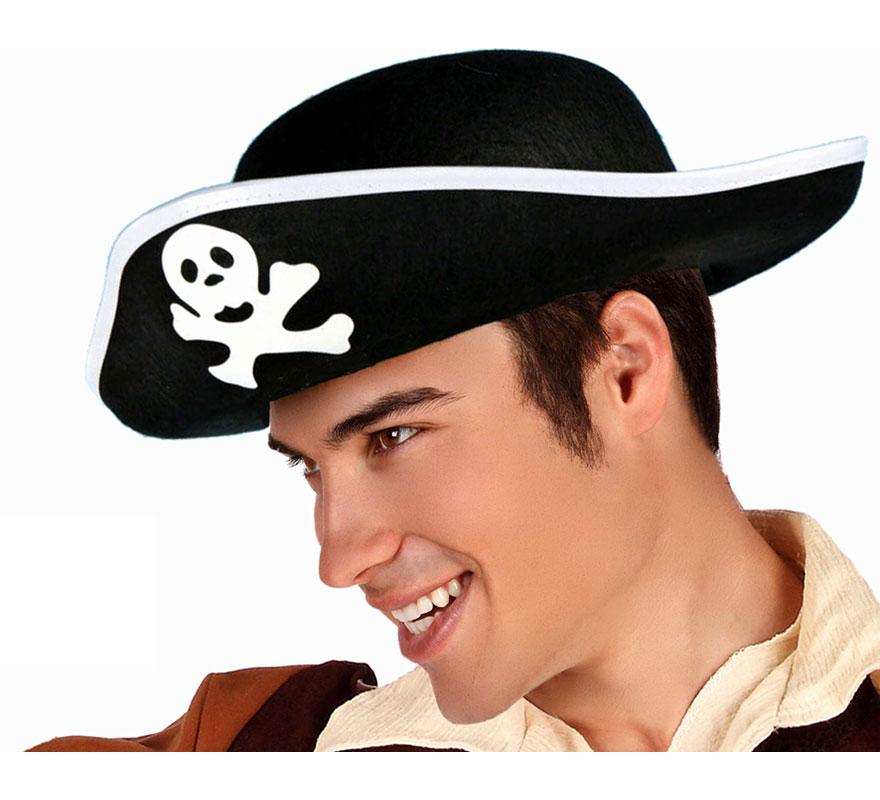 Sombrero de Pirata con calavera para adultos.