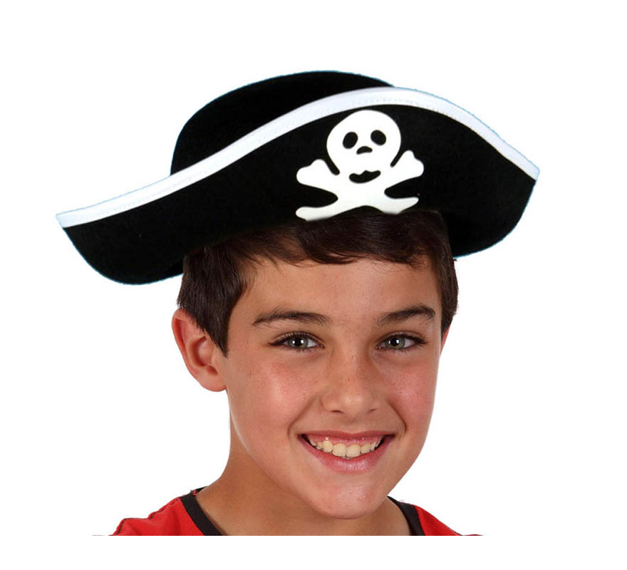 Sombrero de Pirata con calavera para niños.