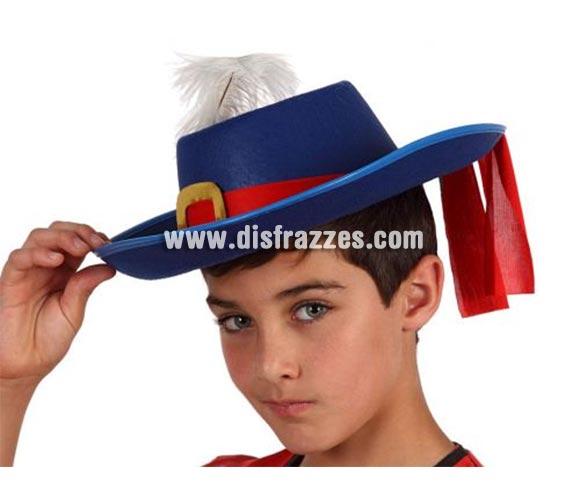 Sombrero azul de Mosquetero para niños.