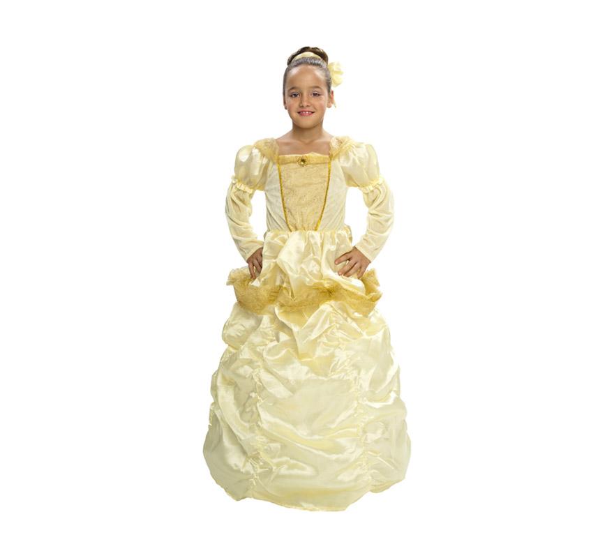 Disfraz barato de Princesa Bella para Carnaval o para regalo. Talla de 5 a 6 años. Incluye vestido y tocado. Éste disfraz es ideal para Carnaval y para regalar en Navidad, en Reyes Magos, para un Cumpleaños o en cualquier ocasión del año. Con éste disfraz harás un regalo diferente y que seguro que a los peques les encantará y hará que desarrollen su imaginación y que jueguen haciendo valer su fantasía.  ¡¡Compra tu disfraz para Carnaval o para regalar en Navidad o en Reyes Magos en nuestra tienda de disfraces, será divertido!!