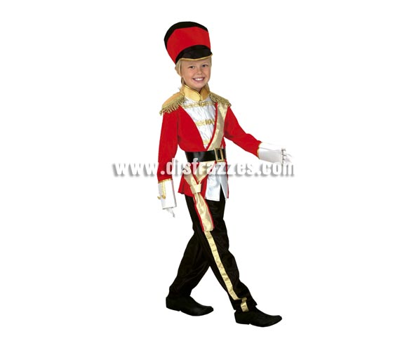 Disfraz de Soldado Inglés barato para Carnaval. Talla de 5 a 6 años. Incluye chaqueta, pantalón, cinturón y gorro.