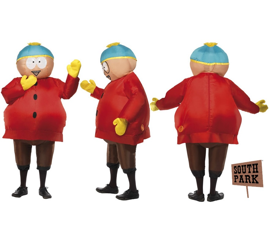 Disfraz de Cartman de South Park hinchable para adulto. Incluye con traje y guantes.
