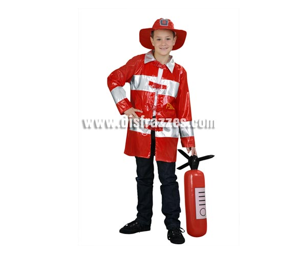 Disfraz de Bombero para niños de 7-9 años. Incluye sombrero y chaquetón.