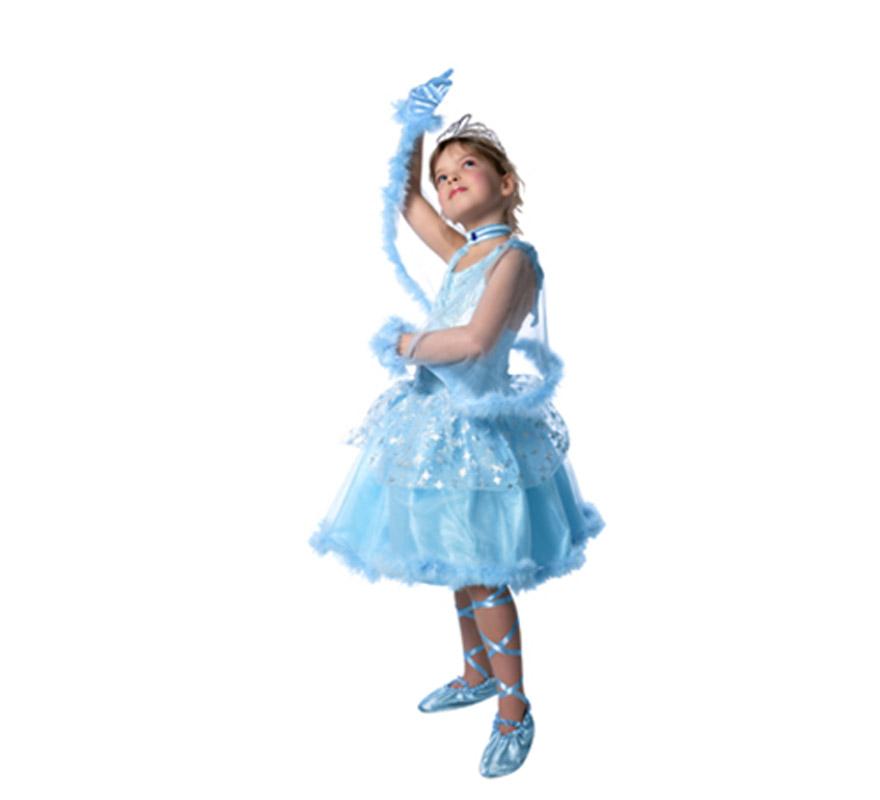 Disfraz de princesa mi tu-tu de color azul. Incluye vestido, zapatillas, guantes, collar y corona. Disponible en varias tallas. ¡¡Compra tu disfraz para Carnaval en nuestra tienda de disfraces, será divertido!!