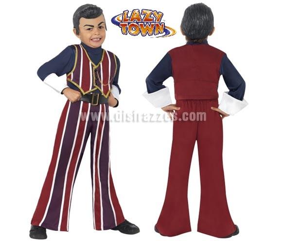 Disfraz de Robbie Rotten de Lazy Town para niños de 3 a 4 años. Incluye camisa, pantalón y casquete. Ideal para regalar en Navidad.