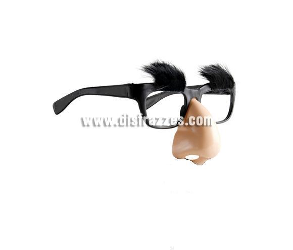 Gafas con nariz de Groucho Marx.