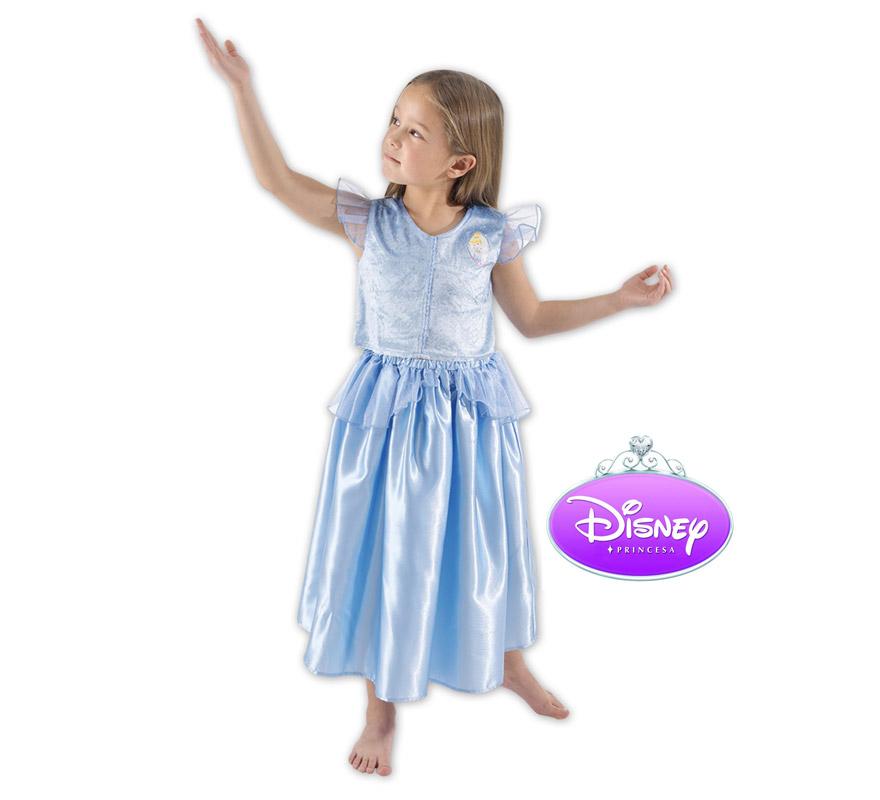 Disfraz de Cenicienta infantil. Talla de 3 a 4 años. Incluye vestido. Disfraz con licencia Disney. Ideal para regalar en Navidad o en cualquier ocasión.