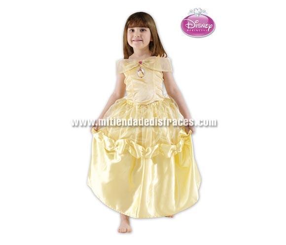 Disfraz de Bella infantil. Talla 5 a 6 años. Incluye vestido. Disfraz con licencia Disney. Ideal para regalar en Navidad o en cualquier ocasión.