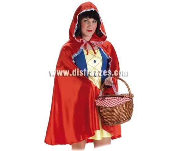 Capa de Caperucita Roja para mujer. Talla Standar de mujer. El precio incliuye sólo la capa.