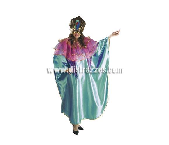 Disfraz Veneciano para mujer. Talla Standar de mujer. Incluye capa y máscara.