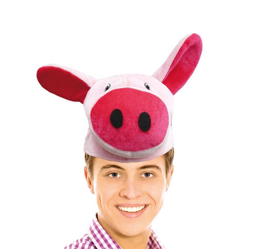 Gorro o Sombrero de Cerdito. Ideal para Colegios y para todo tipo de Fiestas y Despedidas.