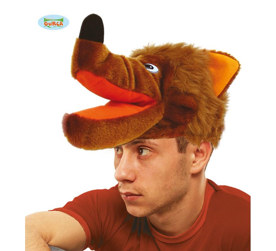 Sombrero o Gorro de Lobo marrón. Ideal para Colegios y para todo tipo de Fiestas y Despedidas. Es un muy calentito ideal para los sitios donde hace frío.