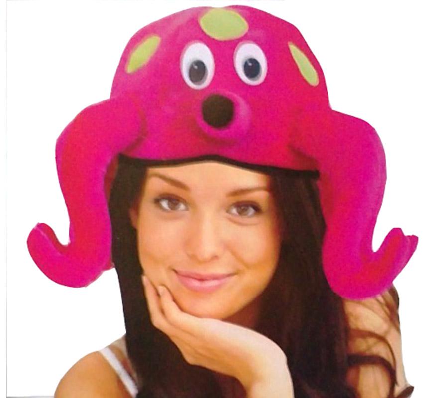 Gorro o Sombrero de Pulpo. Ideal para Colegios y para todo tipo de Fiestas y Despedidas.