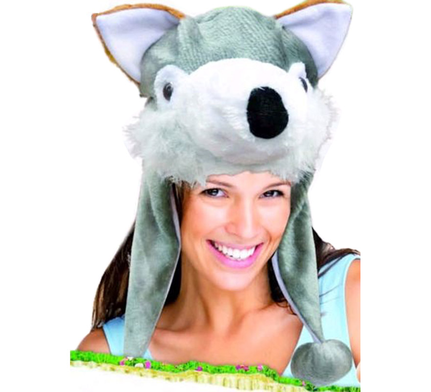 Sombrero o Gorro de Perro Siberiano. Ideal para Colegios y para todo tipo de Fiestas y Despedidas. Es un muy calentito ideal para los sitios donde hace frío.