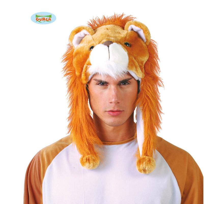 Gorro o Sombrero de León. Ideal para Colegios y para todo tipo de Fiestas y Despedidas. Es un muy calentito ideal para los sitios donde hace frío.